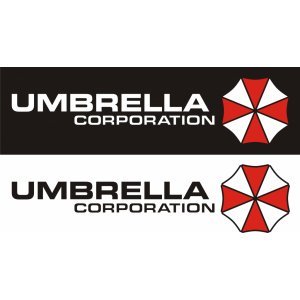"Наклейка на авто ""Umbrella corporation версия 2"""