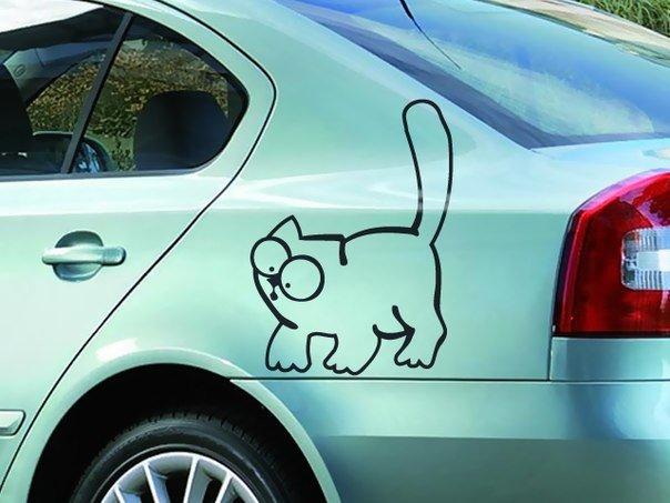 Автонаклейка кот Саймона