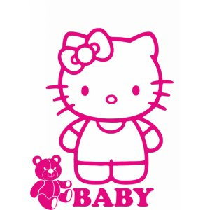 "Наклейка на авто ""Hello Kitty Baby"""