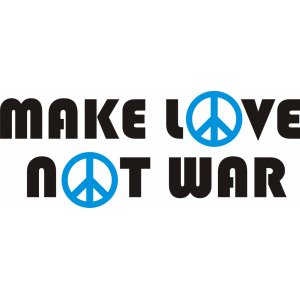 "Наклейка на авто ""Make love, Not war"""