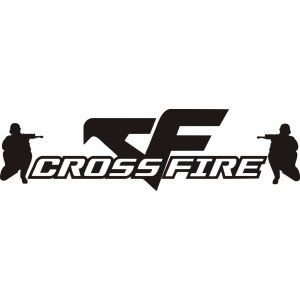 "Наклейка на авто ""CROSSFIRE, CROSS FIRE"""