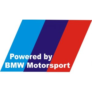 "Наклейка на авто ""Powered by BMW Motorsport"""