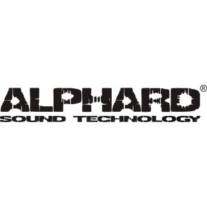 "Наклейка на авто ""Alphard sound technology версия 2"""