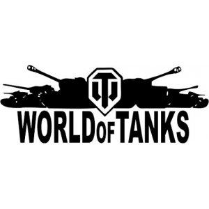 "Наклейка на авто ""WORLD OF TANKS С ТАНКАМИ версия 2"""