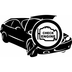 "Наклейка на авто ""CHECK ENGINE"""