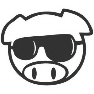 "Наклейка на авто ""JDM Pig Sunglasses"""