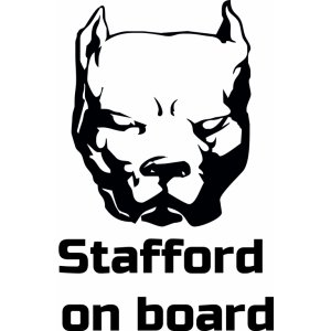 "Наклейка на авто ""Stafford  on board"""