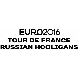 "Наклейка на авто ""Tour de France  Russian hooligans"""