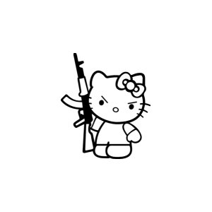 "Наклейка на авто ""Hello Kitty AK47"""