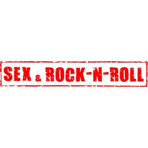 "Наклейка на авто ""Sex and rock-n-roll. Секс и рок-н-ролл"""