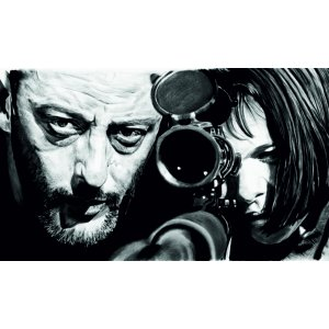 "Наклейка на авто ""Leon. The Professional. Леон. Профессионал версия 2"""
