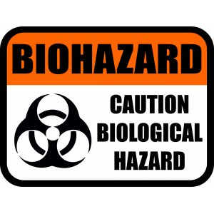 "Наклейка на авто ""Biohazard. Caution biological hazard"""