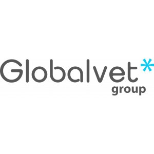 "Наклейка на авто ""Globalvet group logo в два цвета"""
