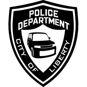 "Наклейка на авто ""Police department. Toyota BB. City of liberty"""