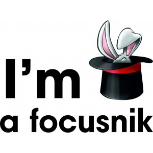 "Наклейка на авто ""I am focusnic. Я фокусник"""